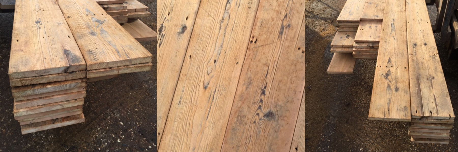 Hand finished period pine floor board from treesave reclamation yard suffolk essex
